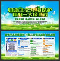 生态环境三大保卫战宣传栏