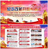 中国改革开放展板