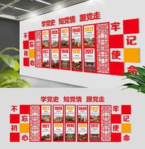 中式党的发展历程文化墙
