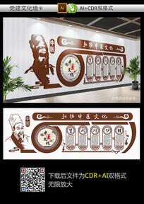 中医文化墙设计模板