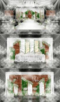 白色森林创意主题婚礼 PSD