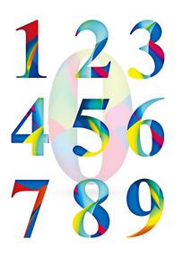 缤纷动感立体数字字体设计