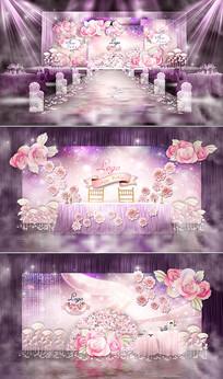 粉紫色婚礼主题婚礼