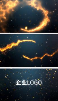火焰迸发标志特效AE模板