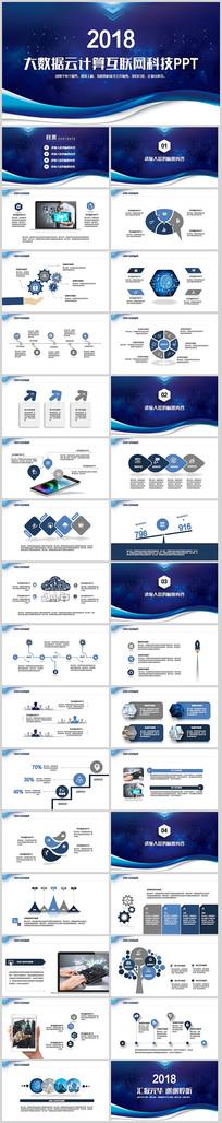科技互联网计划总结PPT