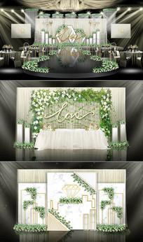 现代简约主题婚礼