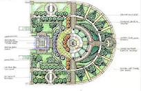 圆形广场设计彩平图