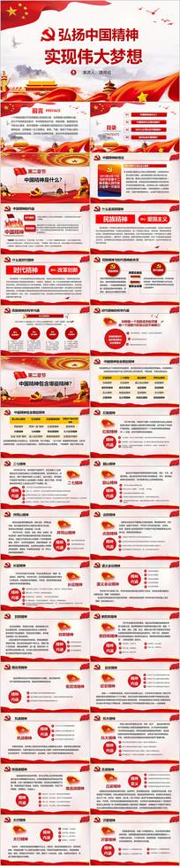 中国精神ppt演讲稿