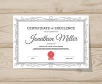 荣誉证书聘书下载素材模板