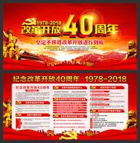 纪念改革开放40周年宣传栏 PSD
