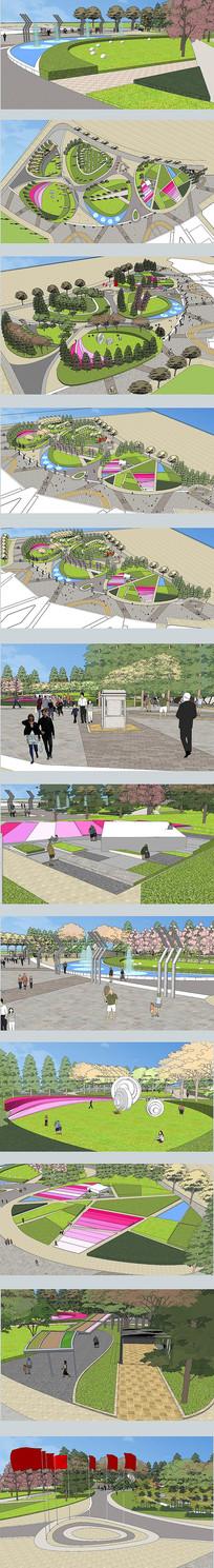 概念公园模型