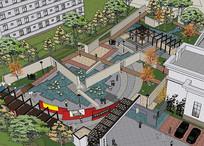 公园精细模型