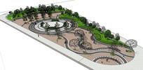 广场公园景观SU模型