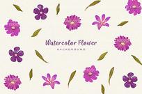 可爱的花卉背景