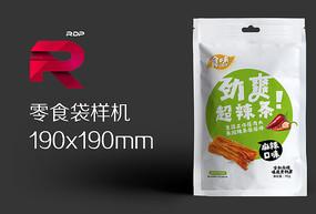 零食纸袋包装效果图