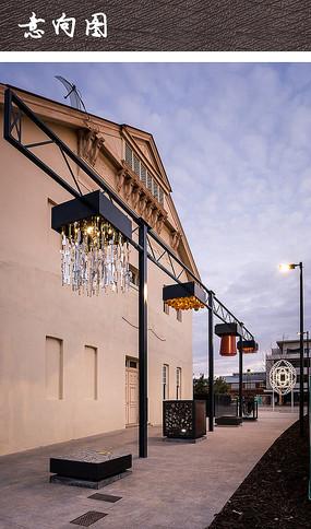现代装饰创意广场灯具