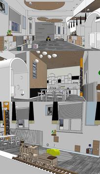 幼儿园生活馆室内设计SU模型