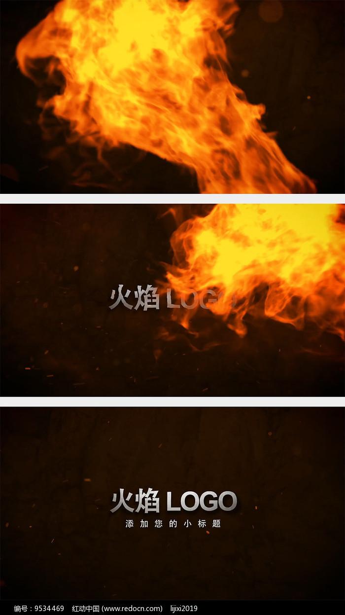 震撼火焰LOGO片头AE模板图片