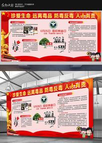 2018学校社区禁毒宣传展板