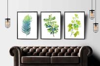 北欧热带植物装饰画