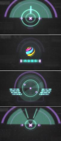 高科技logo标志片头模版