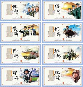 军营文化宣传展板设计