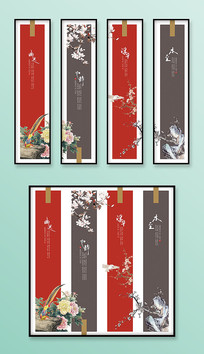 中国风复古花鸟装饰画挂画