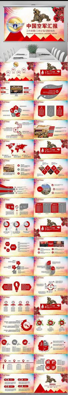中国空军军事国防PPT模板