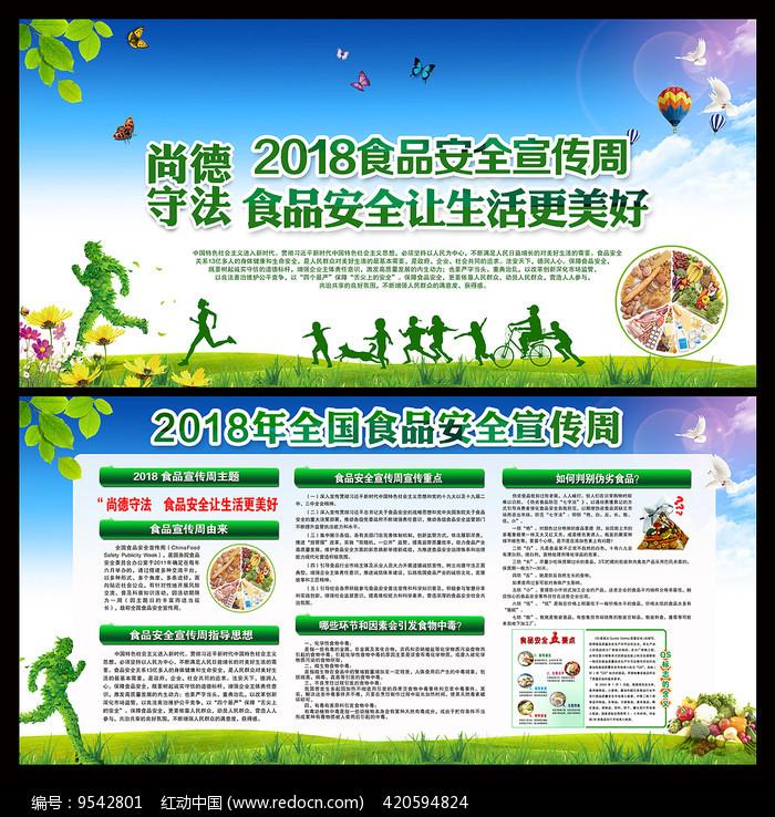 2018年食品安全宣传周展板图片