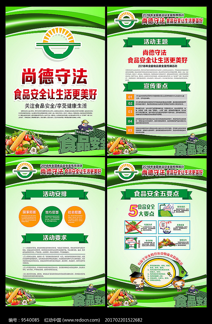 2018食品安全宣传周展板图片