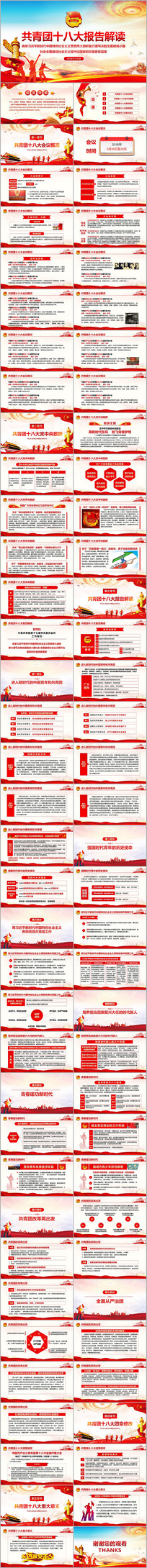 共青团十八大报告学习解读PPT