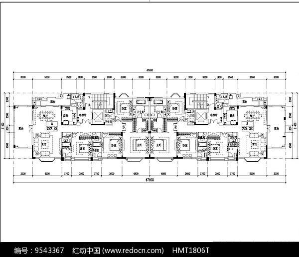 230平米超大户型平面图