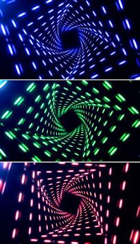 3d隧道穿梭vj舞台背景视频