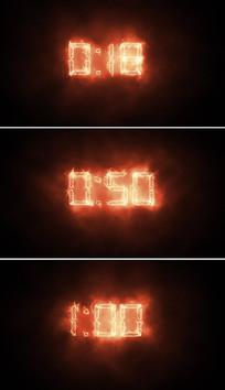 60秒火焰倒计时视频