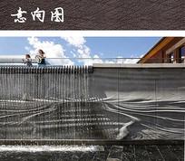 滨海跌水景墙