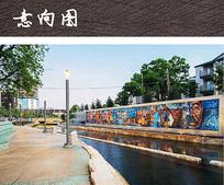 滨水艺术景墙