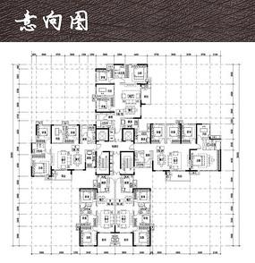 长沙某住宅小区户型图