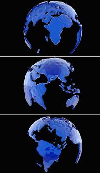 带透明通道高清旋转地球