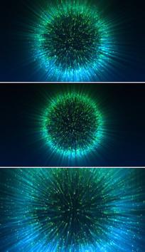 高科技粒子数字光芒背景视频