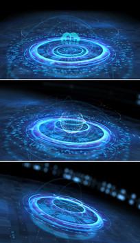 高科技logo演绎片头模板