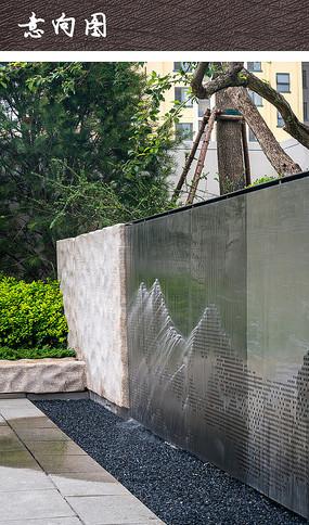 公园景观水景墙