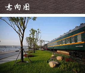 公园绿皮火车