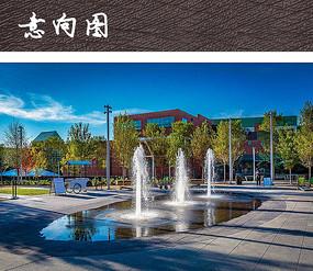 旱喷水景广场