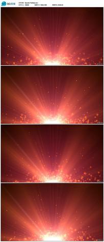 红色粒子颁奖晚会背景视频