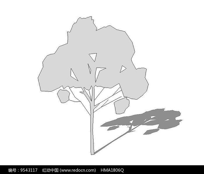 灰色乔木su图片