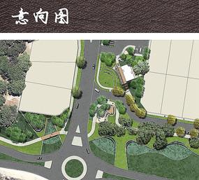 街头休闲公园彩平图