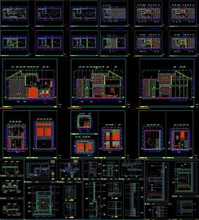 酒店样板房施工图CAD