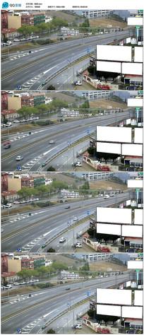 实拍城市户外空白广告牌