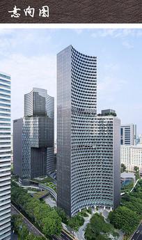 现代六边形商业建筑