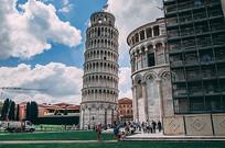 意大利比萨斜塔建筑